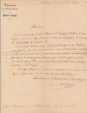 Militaire lettre autographe signée Montguyon expédition Portes de fer Orléans