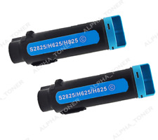 Compatible Dell 593-BBOX 2PK Cyan Laser Toners Fit for H625cdw H825cdw S2825cdn