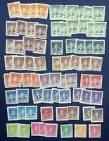 HUGE LOT OF 1940's CHINA MINT STAMPS DR. SUN YATSEN, VALUES FROM $1-$50,000