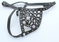 Exposing Intimate Parts Men's Leather Thong Cage Style Gay Ledapol size S/M