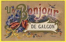 """cpa ILLUSTRATION signée M. BERONNEAU """" Un BONJOUR de GALGON """" Gironde"""