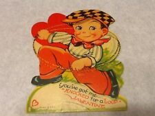 Valentines Day Card, Knocked for A Loop - vintage