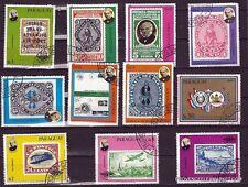 127T2 PARAGUAY 11 Timbres grand format oblitérés: L'inventeur du timbre