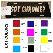 PERSONALIZED VANITY CUSTOM LICENSE Plates - YOU DESIGN! 16 text colors!!