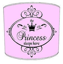 Niños Pantallas de Lámpara Para Combinar The Princess Príncipe duerme Aquí
