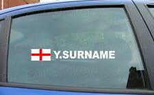 x2 Rally Tag Name Surname Window Stickers Decals England St George Flag ref:1