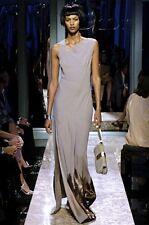 DIOR Embelli taupe Asymétrique Orné De Sequins Robe de (vente au détail £ 5,500)