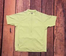 BONTRAGER Cycling Bicycle Jersey Mens Sz L Bright Lime Green Pockets Mountain