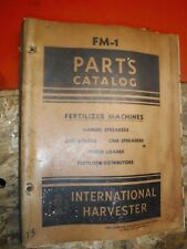 Up To 1947 International Harvester Fertilizer Machines Lime Power Parts Catalog