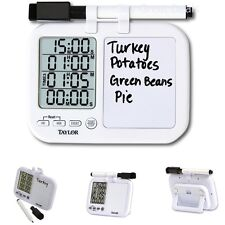 New Quad Kitchen Timer W/ Whiteboard Bar Cooking Dining Home Gift