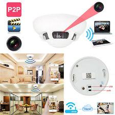 WiFi HD 1080p Spy IP Camera DVR Nanny Cam Smoke Detector Hidden Motion Detection