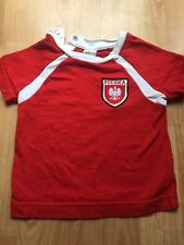 H&M Red Football Baby T-Shirt Poland Polska Eagle