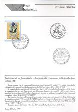 ITALIA 1999 FONDAZIONE DELLA FIAT  BOLLETTINO COMPLETO DI FRANCOBOLLI FDC
