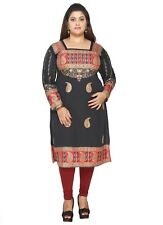 PLUS SIZES -  UK STOCK - Women Indian Kurti Tunic Kurta Shirt Dress EPLUS106A