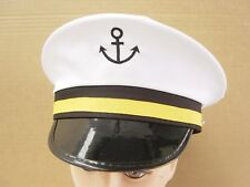 Super Sailor Captain Cap Hat For Navy Skipper Fancy Dress & Accessories NC