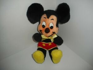 """Vintage Walt Disney Characters Productions Mickey Mouse Plush Toy Doll 14"""""""