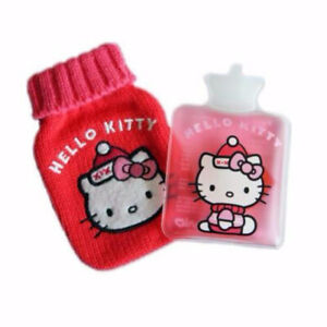 Kitty Reusable Hand Warmer with Knitted Mini Water Bottle Cover Christmas