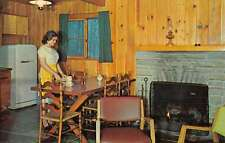 Huntersville West Virginia Cabin Interior Vintage Postcard K22314