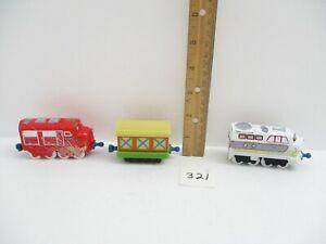 Chuggington Lot Wilson & Chatsworth Train  Engines w/Tool Boxcar Learning Curve
