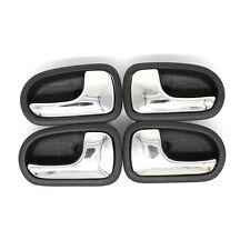 4Pcs Left Right Inside Interior Door Black handle for Mazda PROTEGE 323 95-03