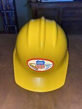 Union Pacific Railroad Hard Hat Helmet Yellow ~ Bullard Usa, Size 6 1/2 to 8