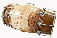 Brown Sheesham Wood Professional Dhol/Dholak/Dholki Drum with Carry Bag,