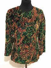 LANVIN PARIS VINTAGE '70 Maglia Donna Velluto Velvet Woman Sweater Sz.L - 46