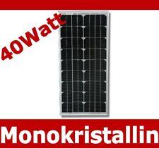 Solarpanel 12 Volt Solarmodul Solarzelle Solar Mono Monokristallin 40 W Watt 12V
