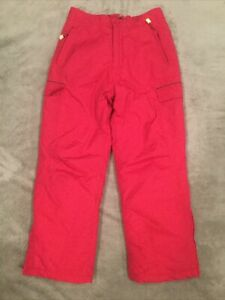 LL Bean Ski Snowboard Snow Pants Thinsulate Insulation Pink Magenta Girls 12