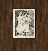 Otto Mueller - Sitzende in Strümpfen - 1924