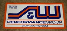 S&W PERFORMANCE CONTINGENCY DECAL NHRA DRAG RACING DRAGSTER FUNNYCAR STICKER