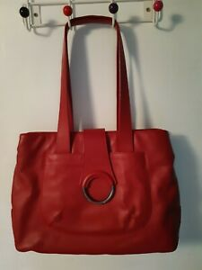 Brics. Italian, red handbag.