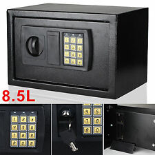 8.5L High Security Safe Steel Electronic Digital Money Safety Box Key BLack Home