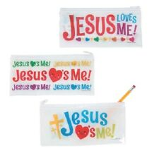 Set of 3 Jesus Loves Me Pencil Cases *Free S/H with 6 items from my store