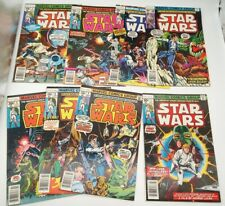 Original Marvel Comics Group 1977 Star Wars #1, #4, #5, #6, #7, #8, #9, #10