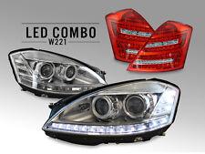 COMBO Facelift LED Headlight+Philips Xenon Bulb + Clear Tail Light Mercedes W221