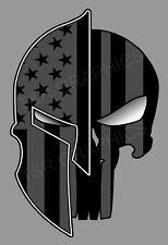 Spartan Punisher Skull Black Out Vinyl Sticker Decal Usa Car Truck Window