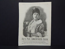Illustrated London News Ad 13/Fry's Pure Concentrated Cocoa/Dec 1889