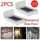 2PC 16 LED Solar Power Motion Sensor Security Lamp Outdoor Waterproof Light GT