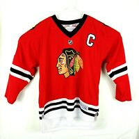 Reebok Chicago Blackhawks Youth L XL Jersey Toews 19 NHL Hockey