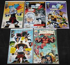 Marvel J2 #7, 9, 11, 12 & JUGGERNAUT VOL. 2 #1 - 5pc Comic Lot Grade VF-NM X-Men