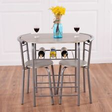 Small Kitchen Table Chairs Set Dining Set For 2 Breakfast Space Saver Furniture