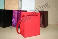 EXTRA SMALL RED PAPER GIFT BAGS PK OF 10 HANDMADE