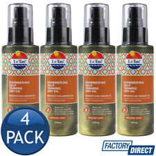 4 x Le Tan Shimmering Self Tanning Dry-Oil Moroccan Argan Oil Medium/Dark 125mL