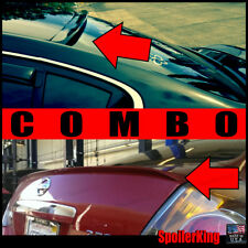 COMBO Rear Roof Wing & Trunk Lip Spoiler (Fits: Altima 2007-12 4dr) 284R/244L