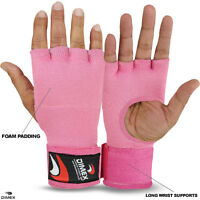Boxing Inner Hand Wraps Gloves Fist Padded Bandages MMA Thai Pink Size - M-L-XL