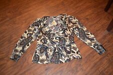 """A16- NWT East 5th """"Drama Paisley Print"""" Top Size Large"""