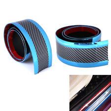 7CM*1M Car sticker carbon fiber blue rubber door`sill protector edge guard st~PA