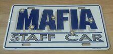 "Mafia Staff Car Metal Sign/Novelty License Plate 12"" x 6"" Brand New/Sealed"