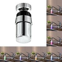 LED Tap Faucet Light Temperature Sensor 7 Color Changing Water Stream Glow Lamp